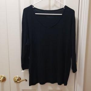 St. John's Bay black shirt sz XL